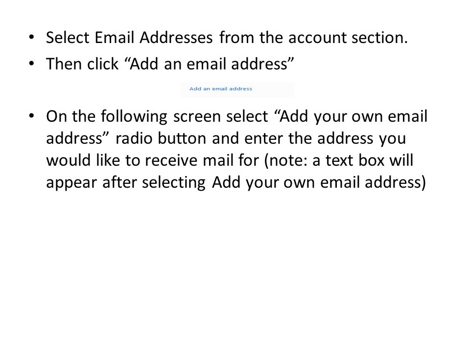 Select  Addresses from the account section.