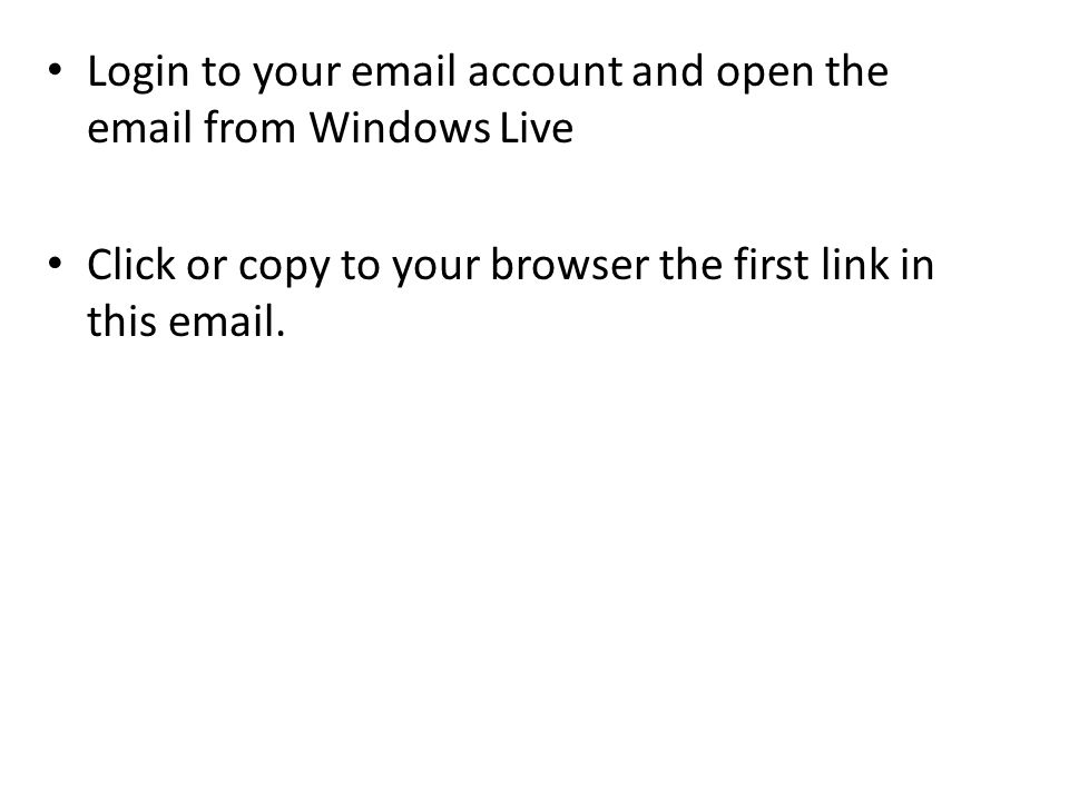 Login to your  account and open the  from Windows Live Click or copy to your browser the first link in this  .