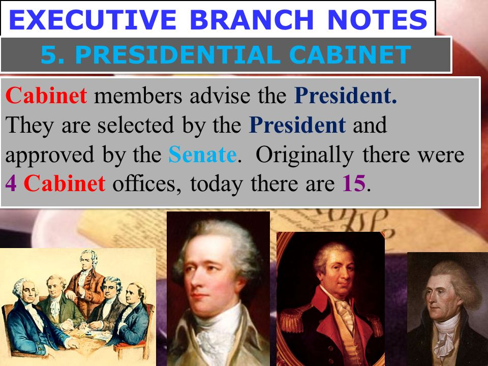 EXECUTIVE BRANCH NOTES. Part 1 – Legislative Branch Basics Part 2 ...