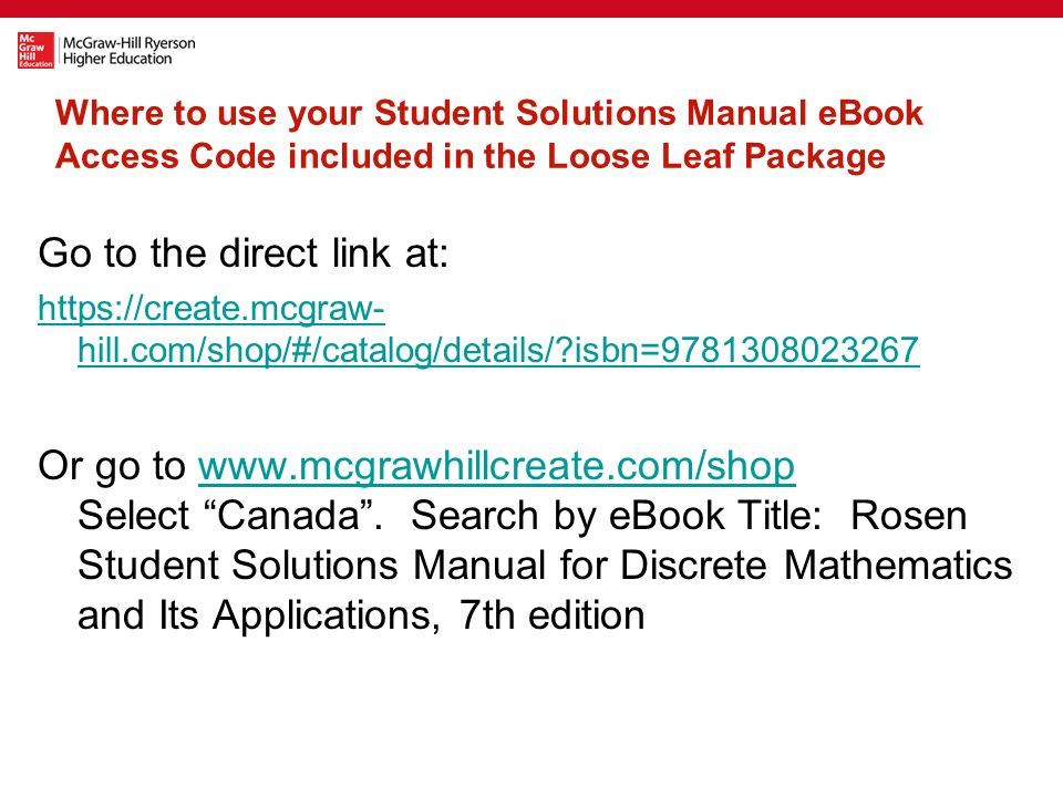 Used book ll text connect access code student solutions manual where to use your student solutions manual ebook access code included in the loose leaf package fandeluxe Image collections