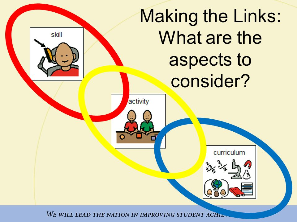 Making the Links: What are the aspects to consider