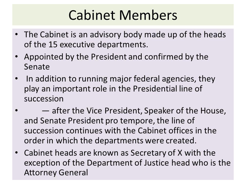 Cabinet Members Line Of Succession - thesecretconsul.com