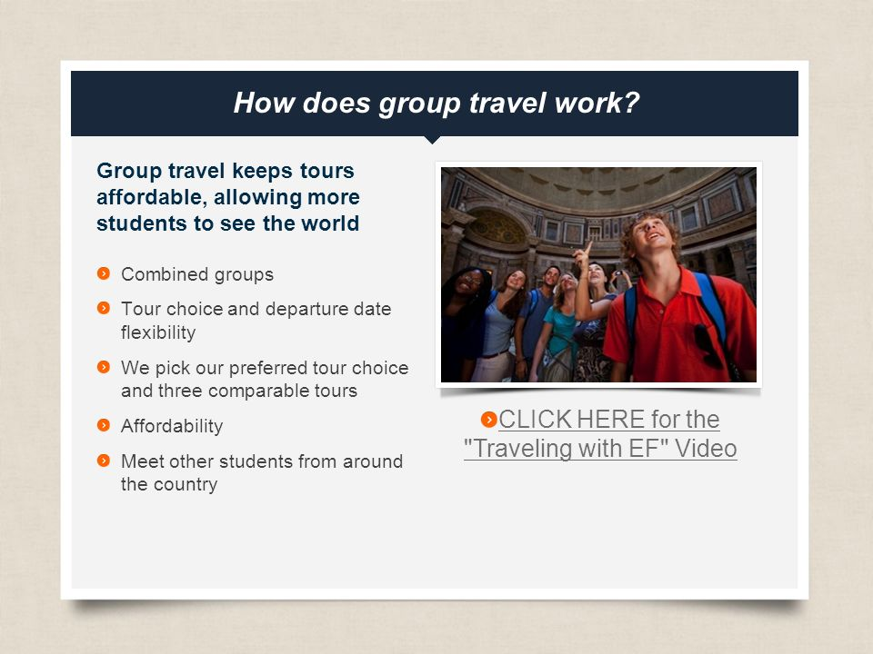 eftours.com How does group travel work.