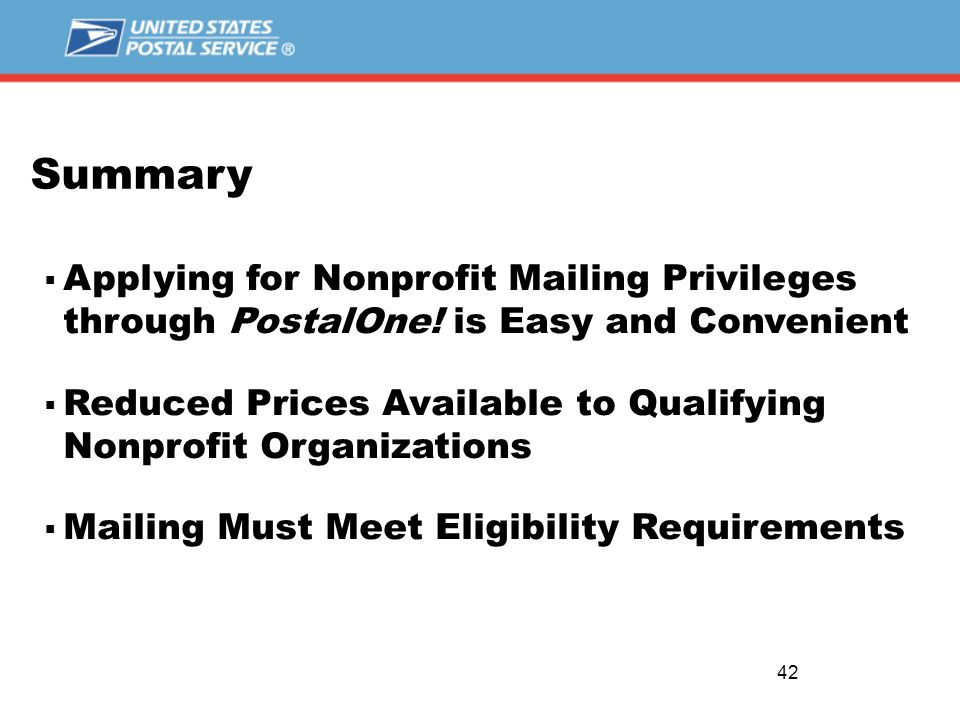Mailing at Nonprofit Prices NONPROFIT MAIL. 2  Background of ...