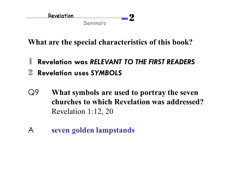 Revelation Seminars 2 Decoding Apocalyptic Messages Messages From