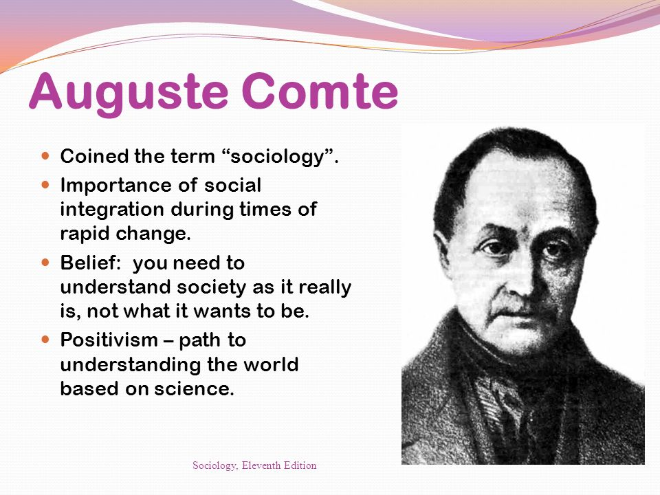 Is anybody here actually a sociologist?