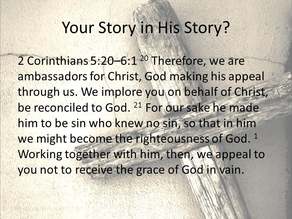 Your Story in His Story.