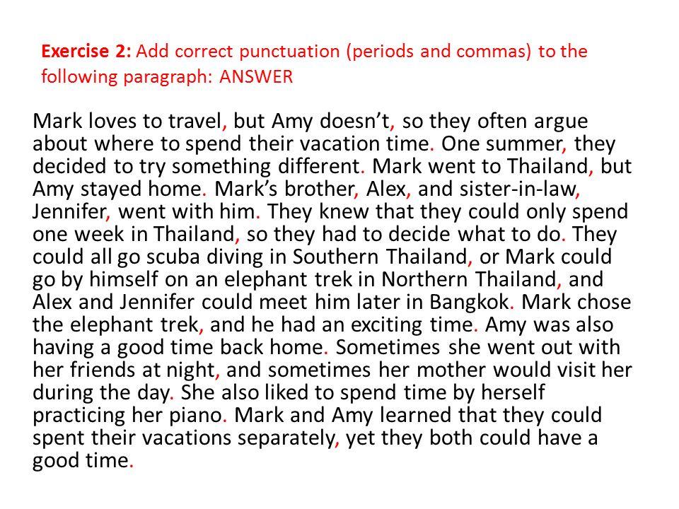 Correct a paragraph
