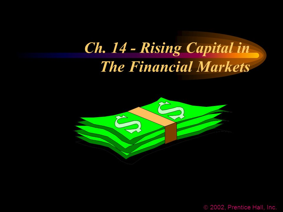 Ch Rising Capital in The Financial Markets  2002, Prentice Hall, Inc.