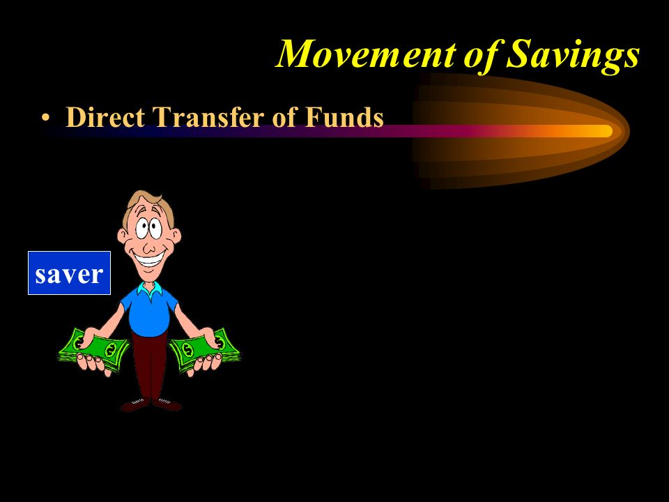 Movement of Savings Direct Transfer of Funds saver