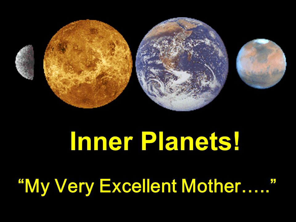 Inner Planets! My Very Excellent Mother…..