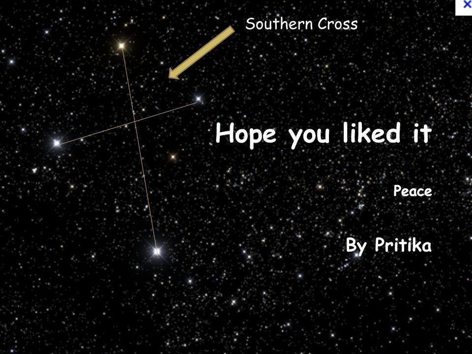 Hope you liked it Peace By Pritika Southern Cross