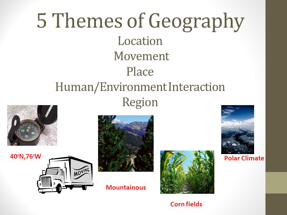 5 themes of geography human environment interaction definition