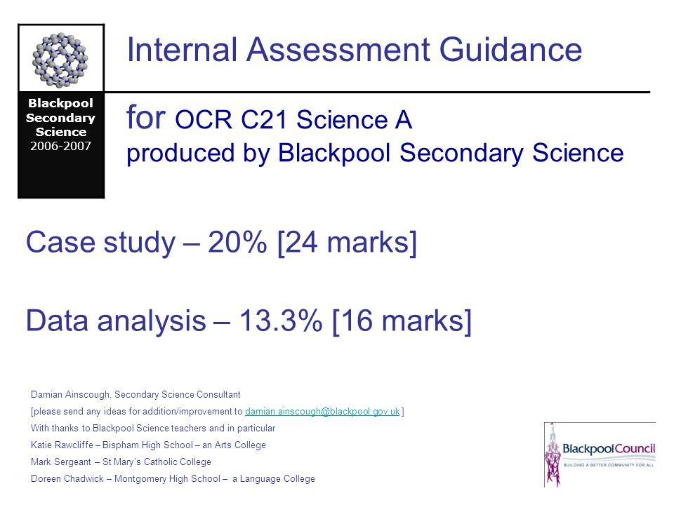 ocr geography coursework mark scheme I have been an examiner for ocr in the past and their mark scheme is a lot more simple and straight forward i have looked at aqa mark schemes whilst marking year 11 mocks and they just ask for a lot more in student answers compared with ocr.