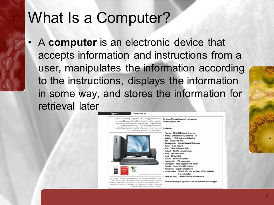 4 What Is a Computer.