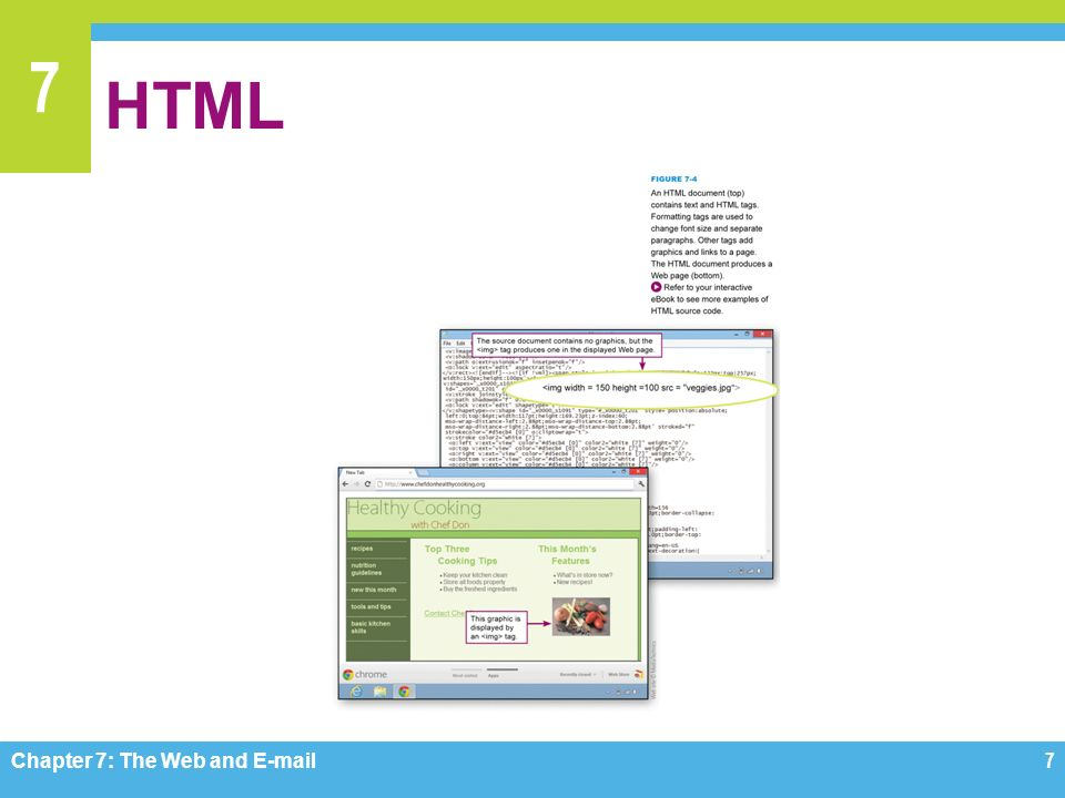7 HTML Chapter 7: The Web and  7