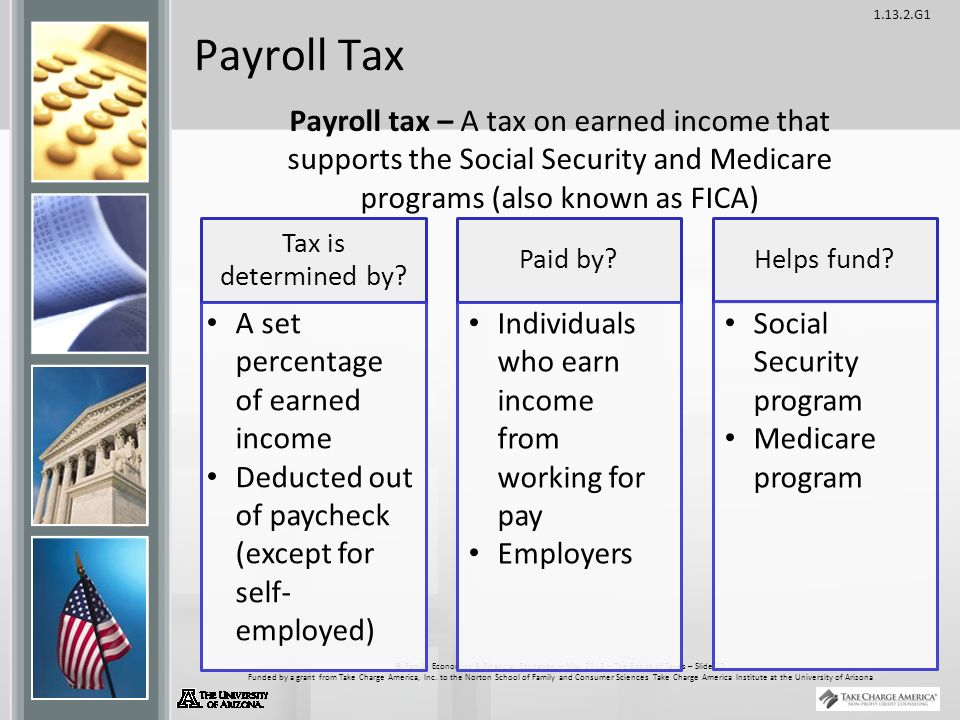 G1 © Family Economics & Financial Education – May 2012 – The Basics of Taxes – Slide 12 Funded by a grant from Take Charge America, Inc.