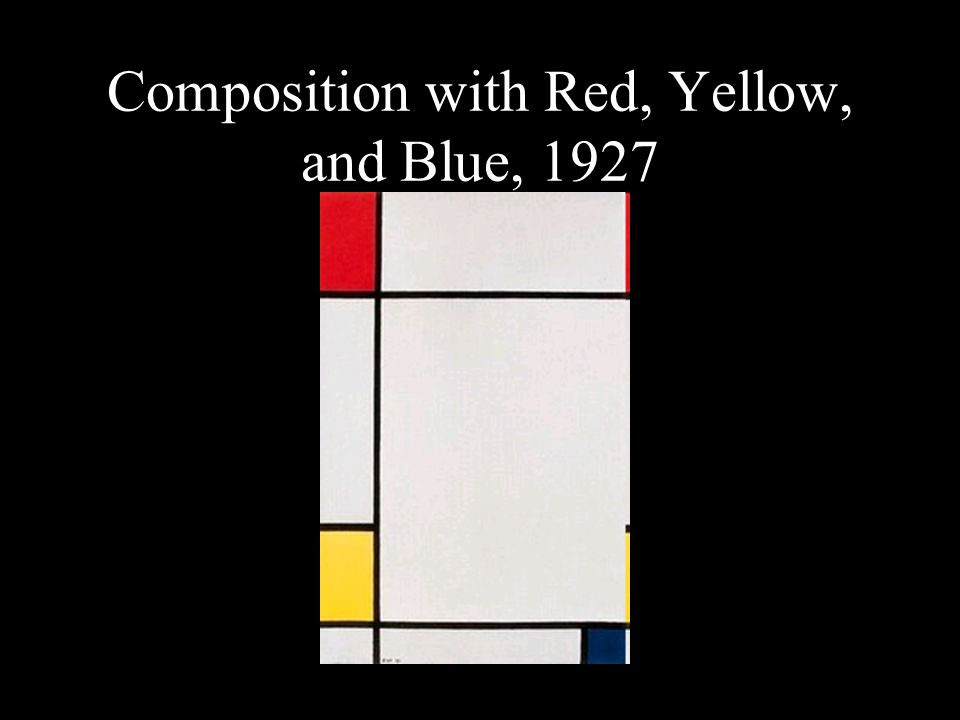 Composition with Red, Yellow, and Blue, 1927