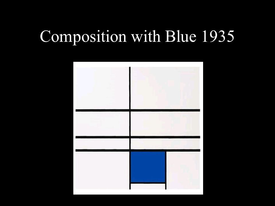 Composition with Blue 1935