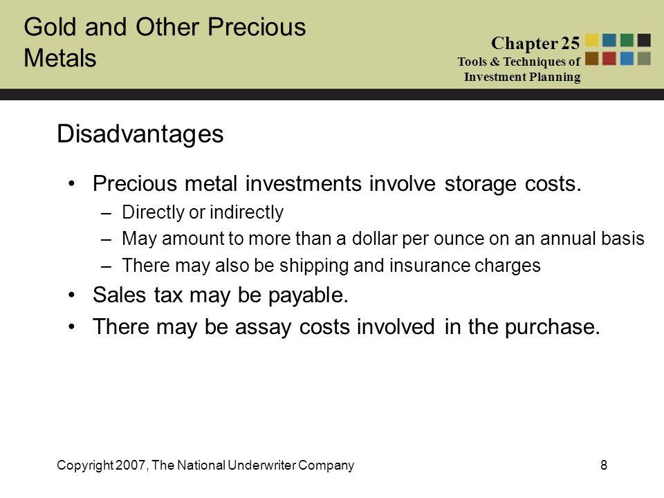 gold sales tax