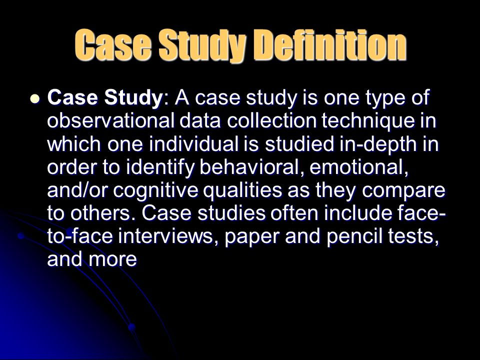 how to write a case study in psychology
