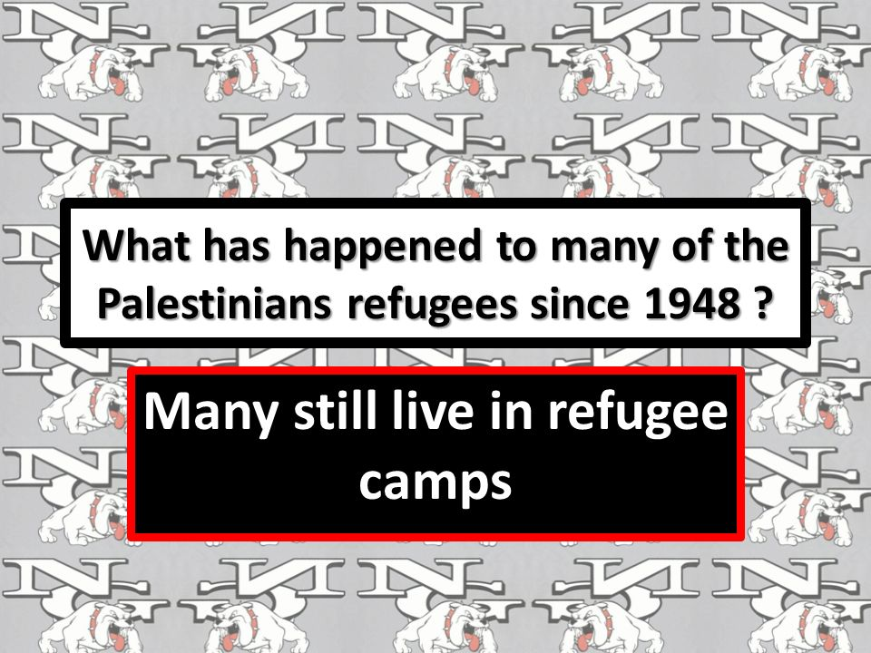 What has happened to many of the Palestinians refugees since