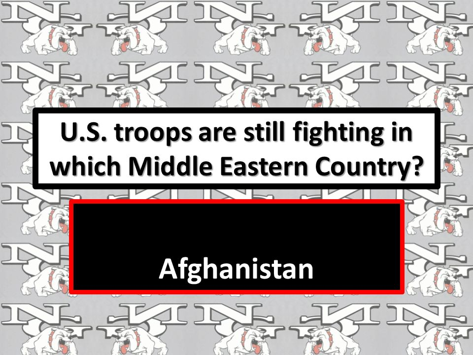 U.S. troops are still fighting in which Middle Eastern Country Afghanistan