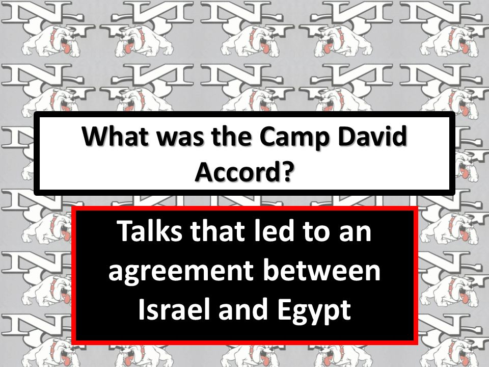 What was the Camp David Accord Talks that led to an agreement between Israel and Egypt