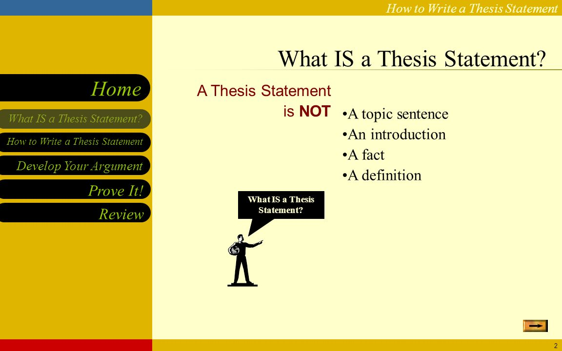 steps to developing a thesis statement