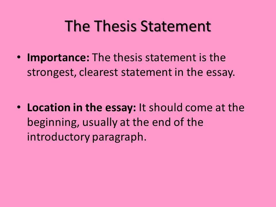 Literary Thesis Statement