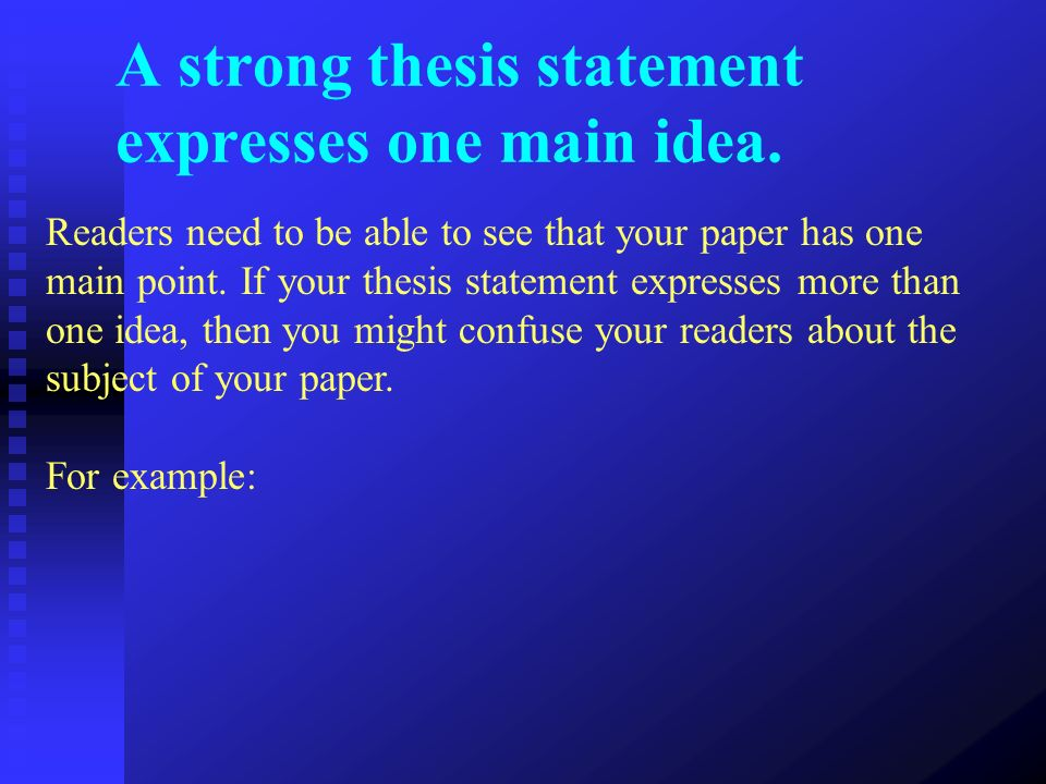 Thesis statement for family