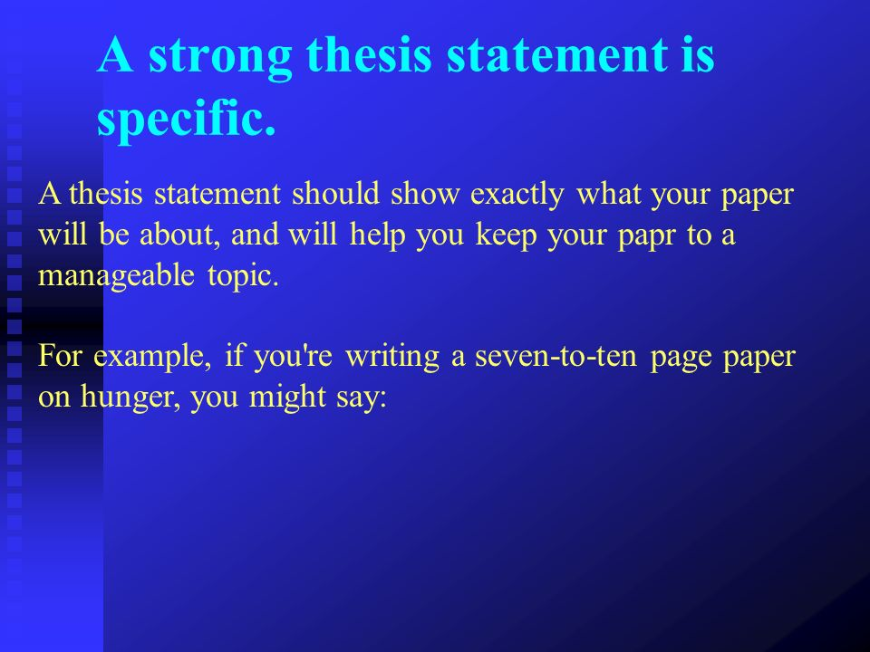 thesis statement for definition essay