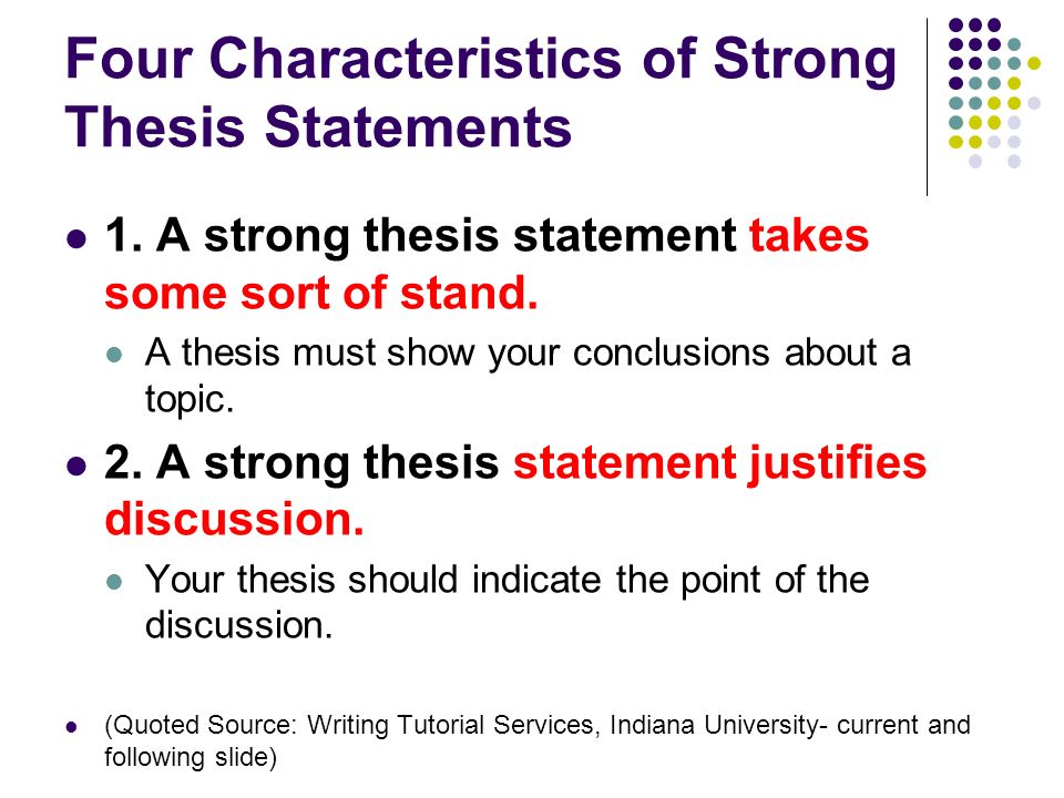 writing thesis statement 1 the
