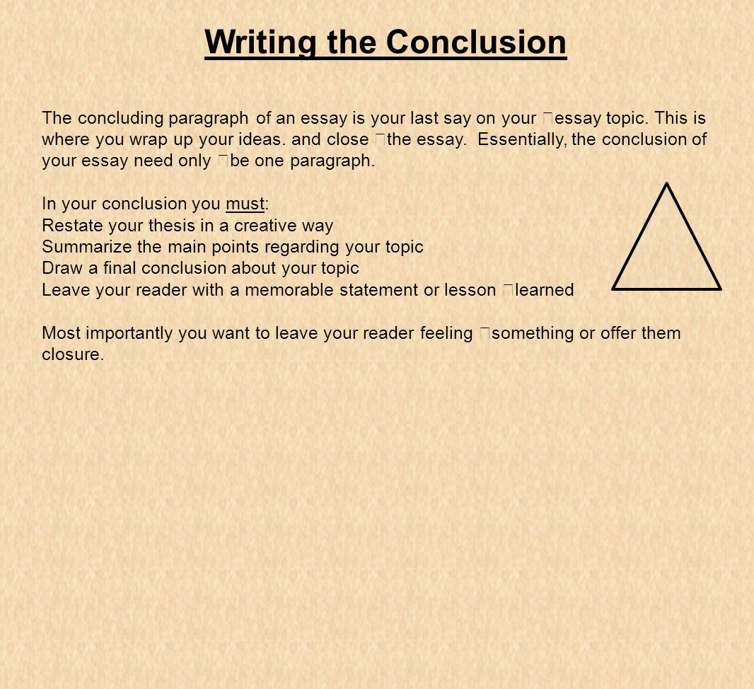 what you need to know about writing an essay the paragraph in 21 writing the conclusion