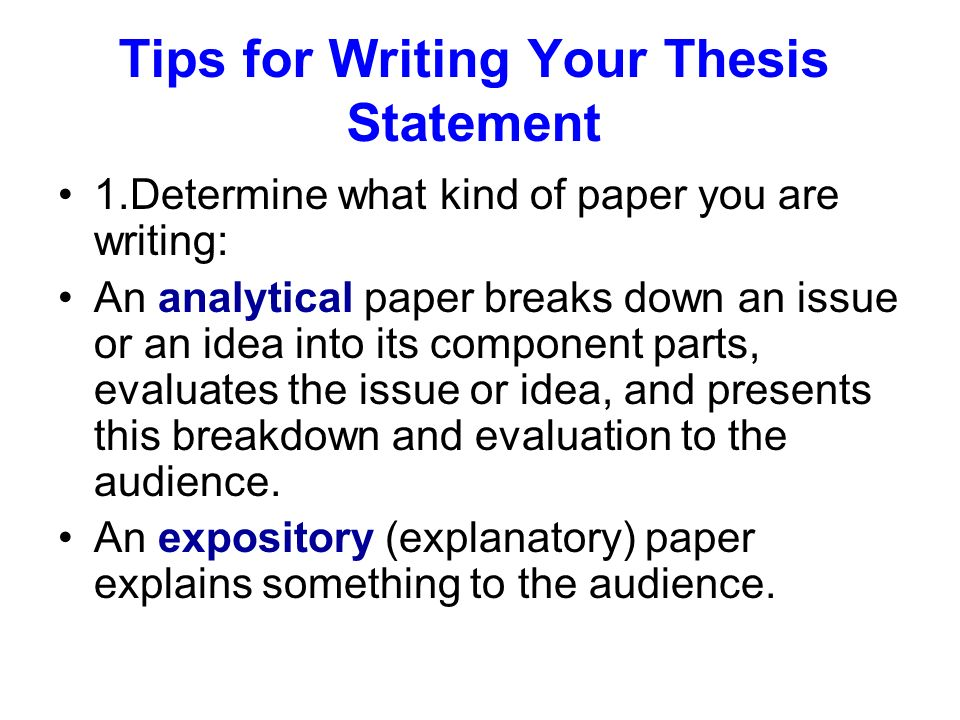 Thesis Statement For Analytical Essay