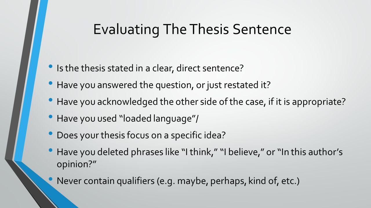qualifying thesis statement