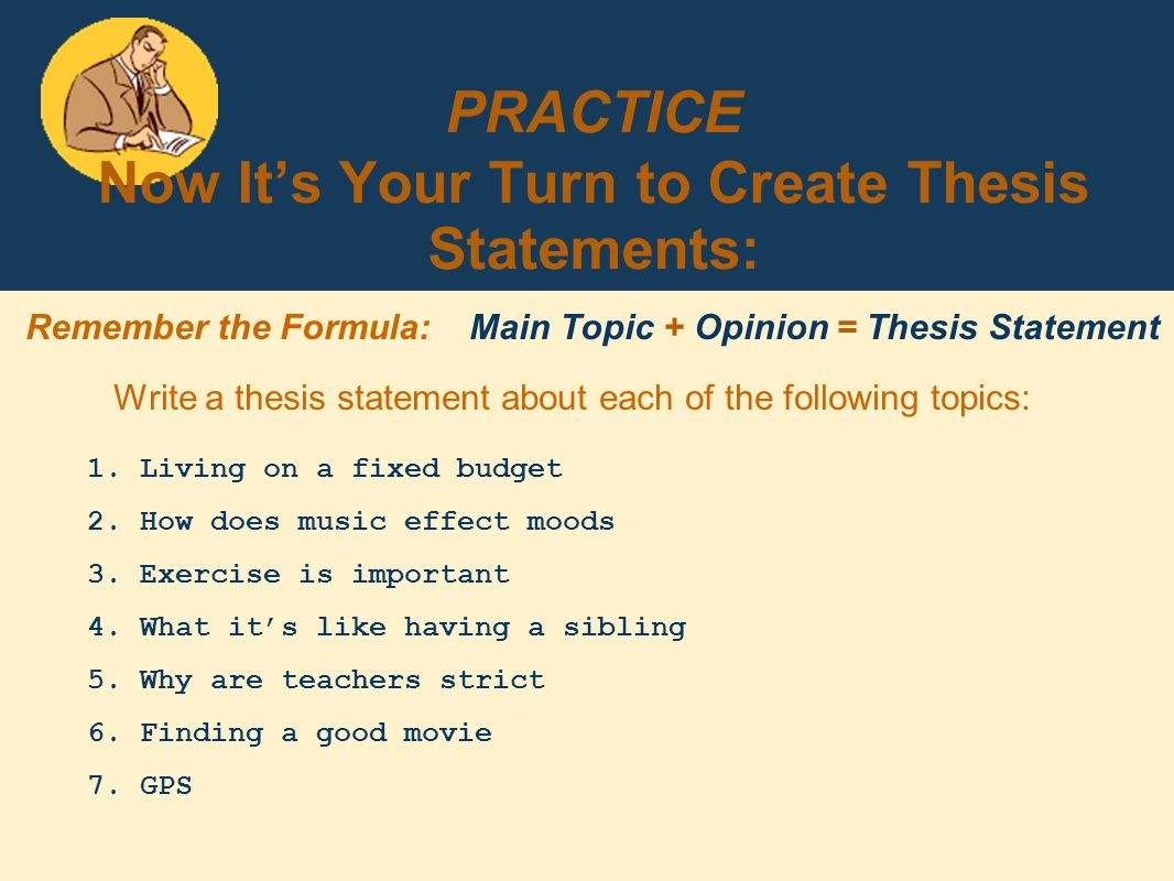 find thesis statement