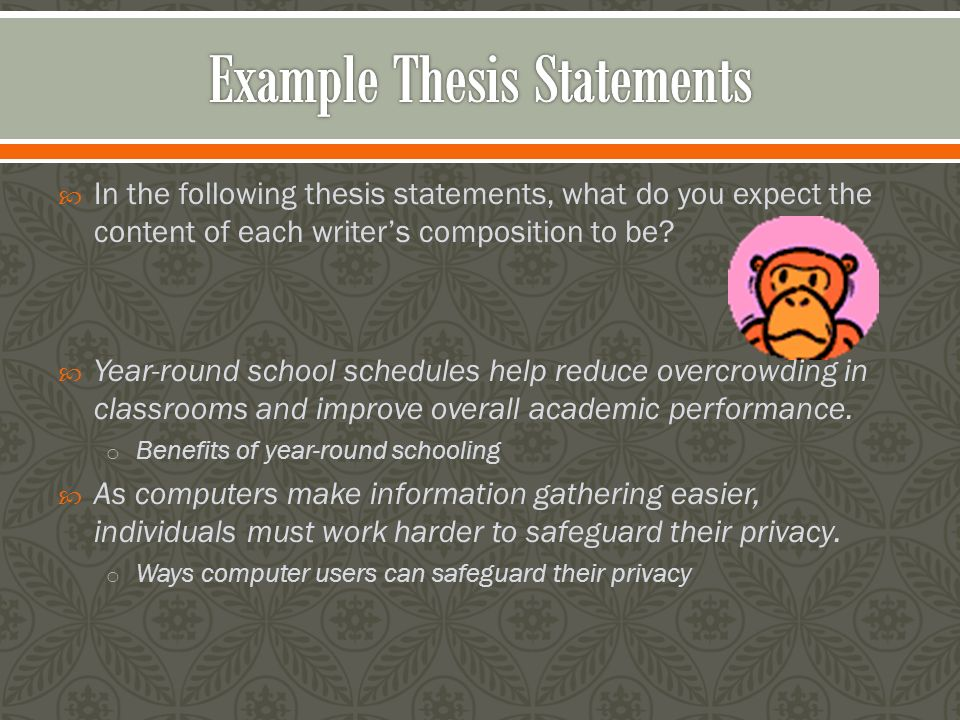 Good Examples Of Thesis Statements For Research Papers