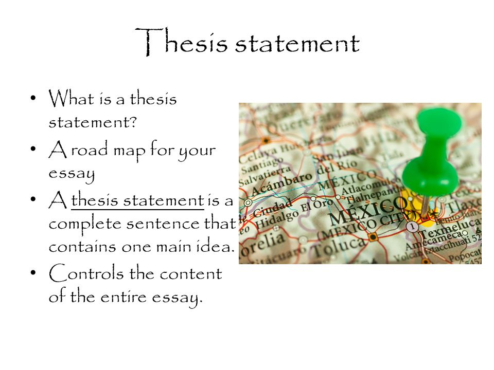 does a thesis statement have to be a complete sentence
