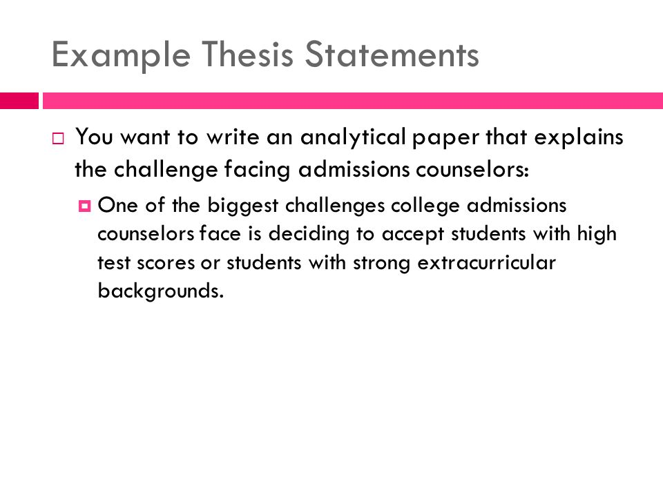 Example Of A Analytical Essay