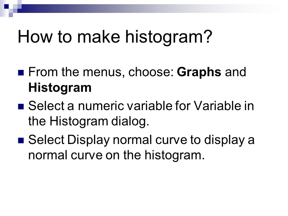 How to make histogram.