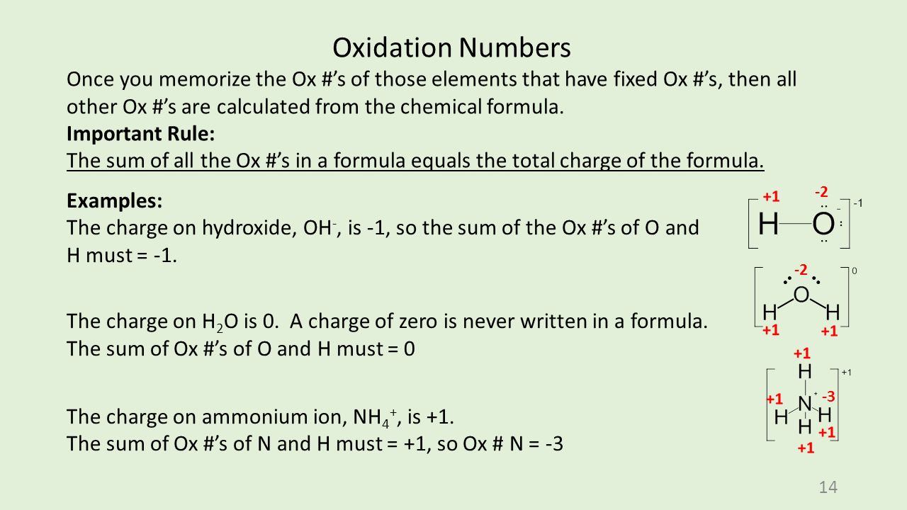 Oxidation numbers ox s what are they used for why do you need 14 14 biocorpaavc Images
