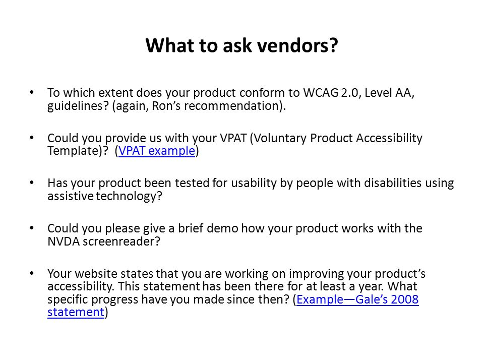 Voluntary Product Accessibility Template. iti voluntary product ...