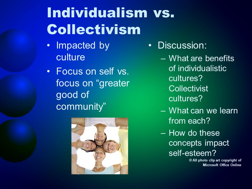 the collectivism versus individualism appeals cultural studies essay Triandis, h c (1989a) cross-cultural studies of individualism and collectivism essays in honor of paul e individualism, collectivism, and community.