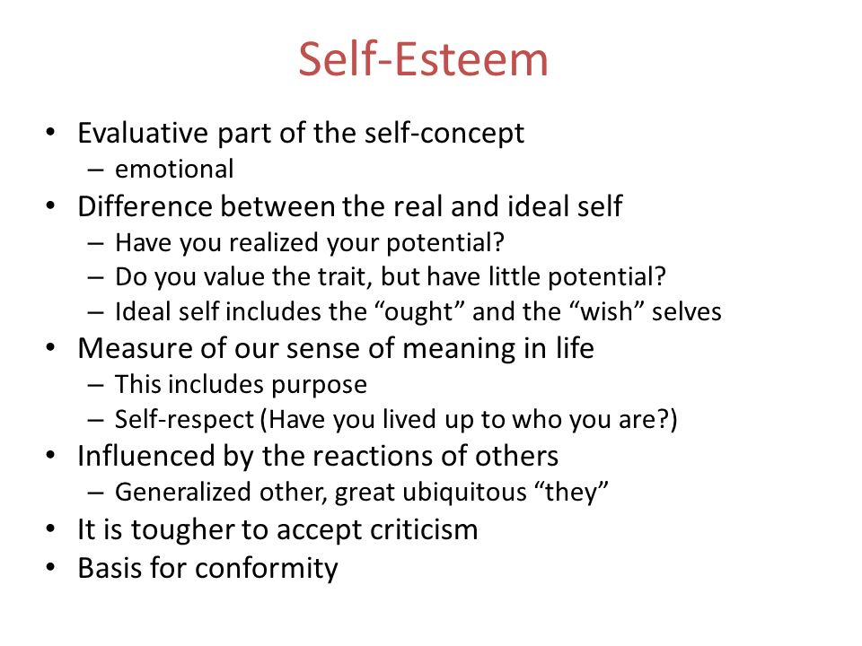 criticism and your self esteem