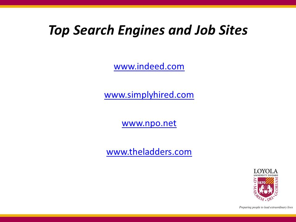Top Search Engines and Job Sites