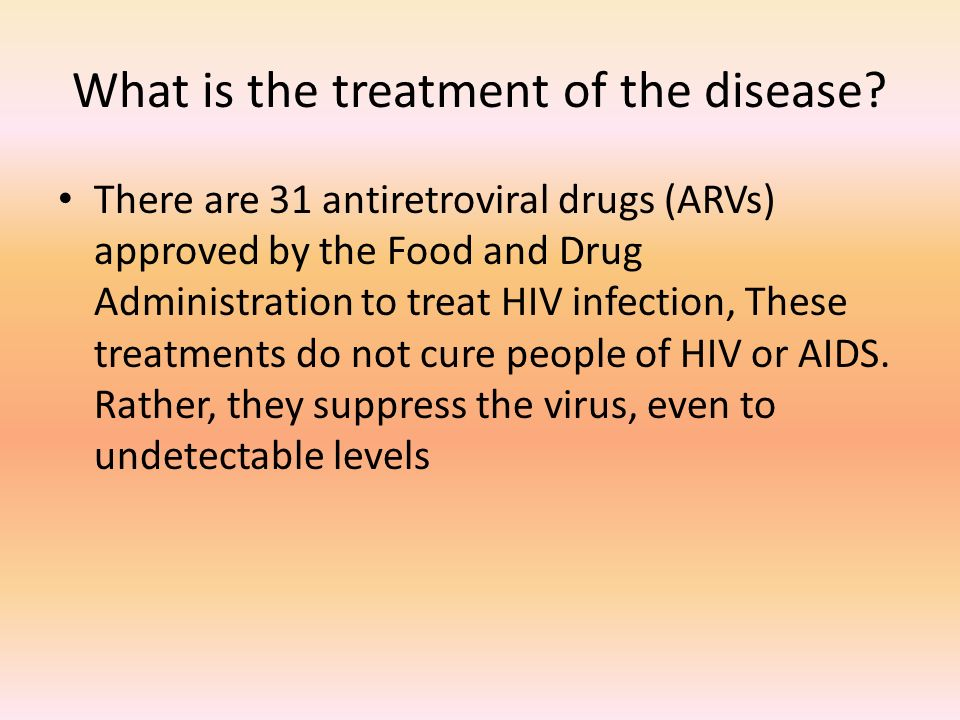 What is the treatment of the disease.