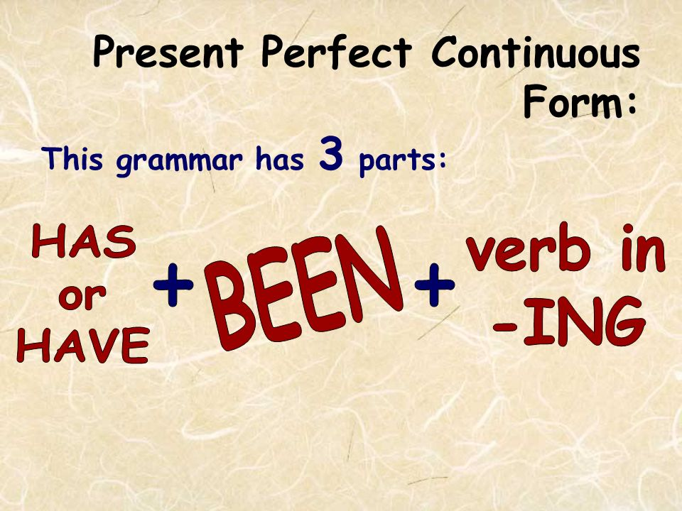Difference in Meaning: UNLIKE the Present Perfect, the Present Perfect Continuous is never used to talk about recently finished actions.