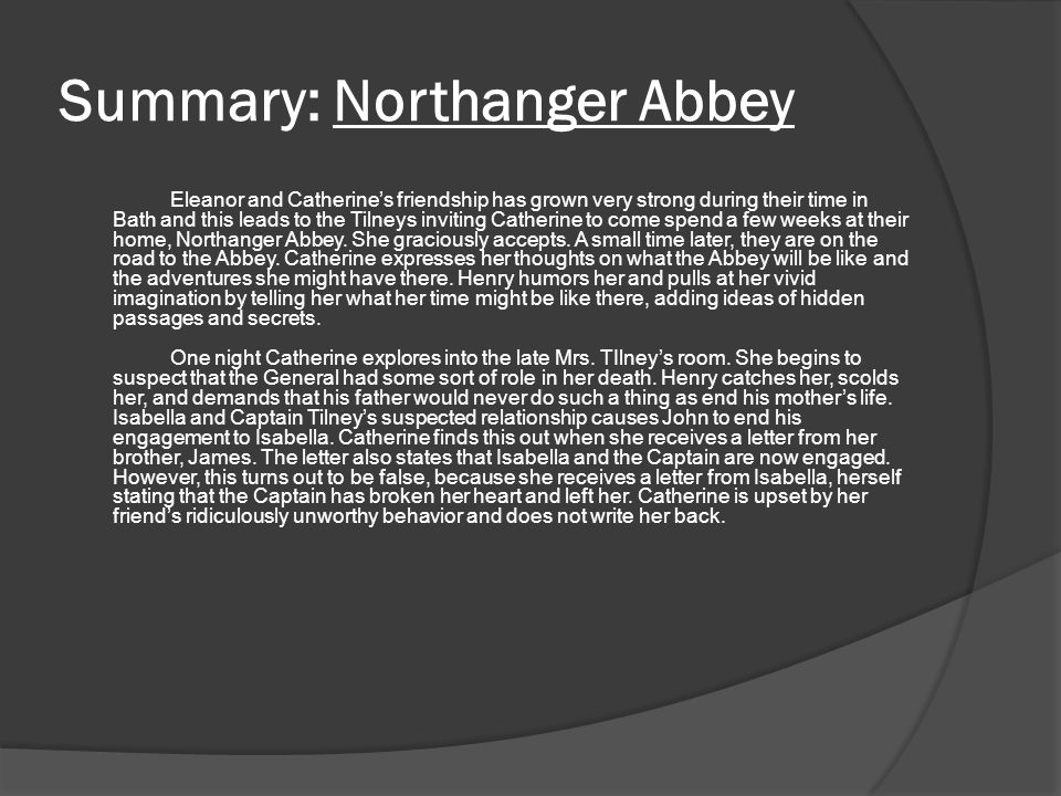 Rachel knighton honors english 12 pd ppt download 46 summary northanger ccuart Gallery