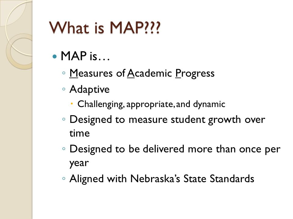 What is MAP .